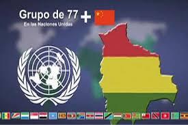 El G-77 más China es una coalición de naciones en desarrollo.