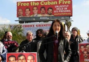 Gloria la Riva es la Directora del Comité Nacional de Estados Unidos para la liberación de los Cinco.
