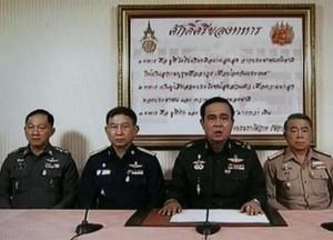 """El jefe del Ejército de Tailandia anunció por televisión que daría un golpe de Estado """"para que el país vuelva a la normalidad"""". (Foto: EFE)"""