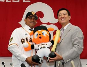 Frederich Cepeda ya está con los Gigantes de Yomiuri. (foto: www.giants.jp)