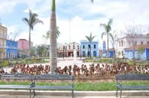 El parque Serafín Sánchez recibión una reconstrucción capital por los 500 años de la villa.