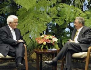 Raúl y  el señor Thomas J. Donohue abordaron temas de interés para ambas naciones.