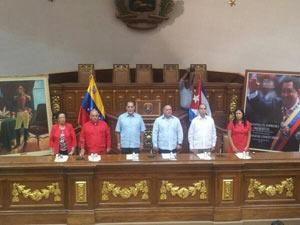 René se reunió en Caracas con parlamentarios venezolanos.