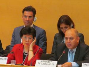 El ministro cubano Roberto Morales preside en Ginebra la 67 Asamblea Mundial de la Salud.