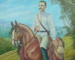 Óleo del pintor Francisco Rodríguez que recrea al general mambí. Foto: Archivo