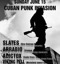 Póster de la presentación de agrupaciones cubanas en festival canadiense.