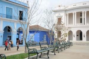 El parque Serafín Sánchez recibió una reparación capital.
