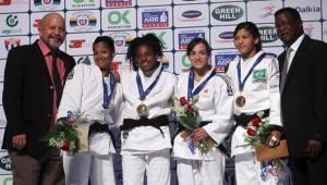 Maria Celia Laborde y Dayaris Mestre lograron el oro y la plata para Cuba en el Grand prix de Judo en La Habana. Foto: Ismael Francisco/Cubadebate.