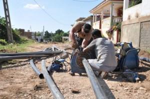 En julio debe entrar en explotación la primera de las tres lagunas para el tratamiento de los residuales de la villa.