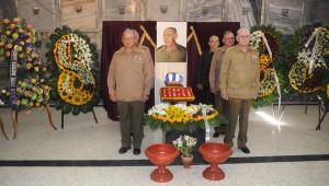 Guardia de honor  en tributo póstumo al General de Cuerpo de Ejército de la Reserva Sixto Batista Santana. Foto: Abel Padrón-AIN