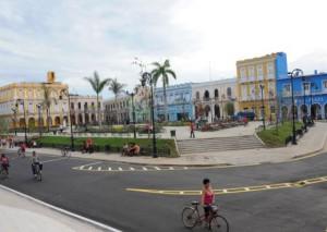 La reconstrucción total del parque Serafín Sánchez constituye una de las principales obras por el aniversario 500 de la ciudad.