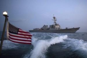 El convoy está conformado por un buque de guerra, un destructor Truxtun y un crucero portamisiles.