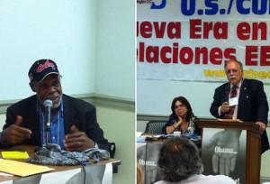 El actor Danny Glover y el abogado José Pertierra estuvieron entre los panelistas de la III Jornada de Solidaridad con los Cinco.