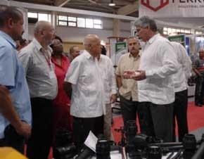 Cubaindustria 2014 concentra las soluciones que se están dando y los programas de desarrollo, aseguró Díaz Canel.