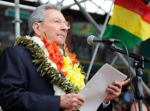 """Defendiendo a Venezuela defendemos a Bolivia y a toda nuestra América"""",  expresó Raúl."""