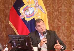"""""""Es inadmisible una Cumbre de las Américas sin Cuba y eso no puede tolerarlo América Latina"""", aseguró Correa."""