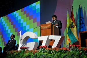Morales pidió la construcción de una economía mundial con justicia ante la excesiva acumulación de la riqueza.
