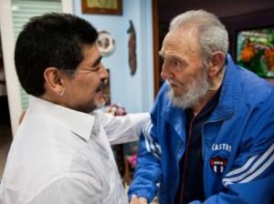 Fidel y Maradona durante un encuentro en La Habana en el 2013. Foto: Archivo de Cubadebate