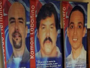 Gerardo, Ramón y Antonio aún permanecen presos en cárceles de estados Unidos.