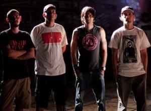 Integrantes de la banda de rock Arrabio.