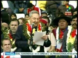 Raúl destacó también los profundos avances que ha materializado el Gobierno del presidente Evo Morales.