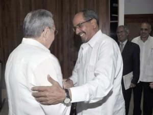 El fraternal encuentro permitió constatar las históricas relaciones de amistad que existen entre ambas partes.
