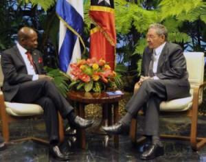 Ambos mandatarios constataron el favorable desarrollo de las relaciones bilaterales.