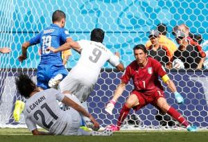 Uruguay logró un espectacular triunfo ante Italia.