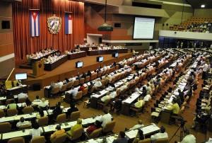 Sesión plenaria del parlamento cubano. Foto AIN
