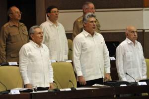 Con la presencia de Raúl Castro Ruz sesiona este sábado en sesión plenaria la Asamblea Nacional del Poder Popular. Foto AIN