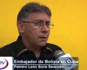 El embajador boliviano ratificó el agradecimiento por el apoyo de Cuba a su país.