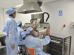Área de impresión de la Planta de Biosensores del Centro de Inmunoensayo, de La Habana.