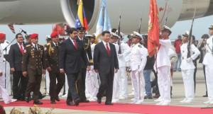 Nicolás Maduro recibió a su homólogo chino. Foto AVN.
