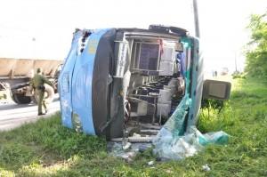 El accidente tuvo lugar en horas de la madrugada. (Foto: Vicente Brito)