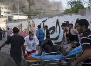 Al menos 15 personas murieron y otras 150 resultaron heridas en un ataque aéreo contra un mercado en las afueras de la Ciudad de Gaza.