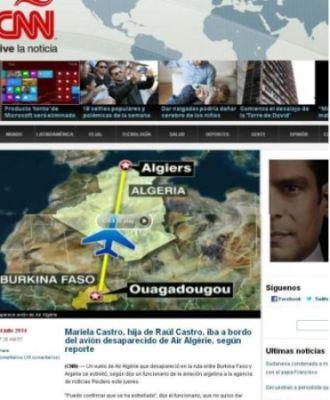 Así reflejó CNN en español la falsa noticia de Mariela Castro.
