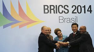 El grupo del BRICS está integrado por su país, Rusia, India, China y Suráfrica.