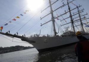 El buque escuela de la armada llegó a Cuba como parte de la travesía de entrenamiento que realiza.
