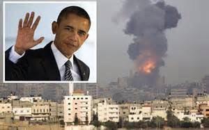 Durante una sorpresiva comparecencia ante la prensa, Obama presentó la visión de un Israel agredido.