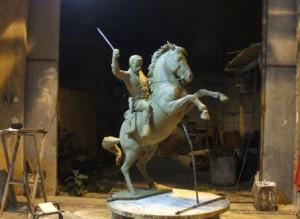 La maqueta será inaugurada en el taller de Felix Madrigal como homenaje al prócer espirituano.