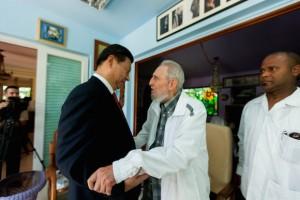 Fidel y Xi Jinping reflexionaron acerca de diversos temas de interés internacional.  Foto: Alex Castro.