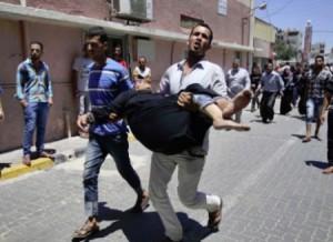 Las tropas israelíes iniciaron su día 21 de ataques con un brutal bombardeo a la cuidad de Rafah.