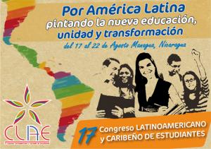 El XVII Congreso Latinoamericano y Caribeño de Estudiantes será celebrado en Nicaragua del 17 al 23 de agosto.