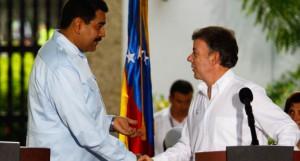 Los presidentes de Venezuela, Nicolás Maduro, y de Colombia, Juan Manuel Santos, expresaron su satisfacción por el éxito de la reunión bilateral.