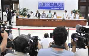 """Las partes ratificaron que """"trabajarán sobre la base de los 10 principios rectores acordados""""."""