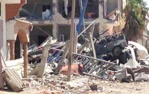 Los destrozos pueden divisarse al paso por cualquiera de las calles dentro de la Franja.