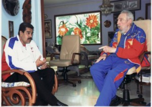 El Presidente de la República Bolivariana de Venezuela, Nicolás Maduro, visitó a Fidel este 19 de agosto.