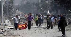 Los daños en Gaza son cuantiosos por los bombardeos.
