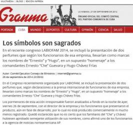 Los símbolos ayer, hoy y siempre, son sagrados, afirma la nota publicada en la prensa cubana.