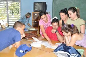 Más de 2 600 espirituanos cursan estudios en la nueva universidad José Martí. Foto: Vicente Brito.